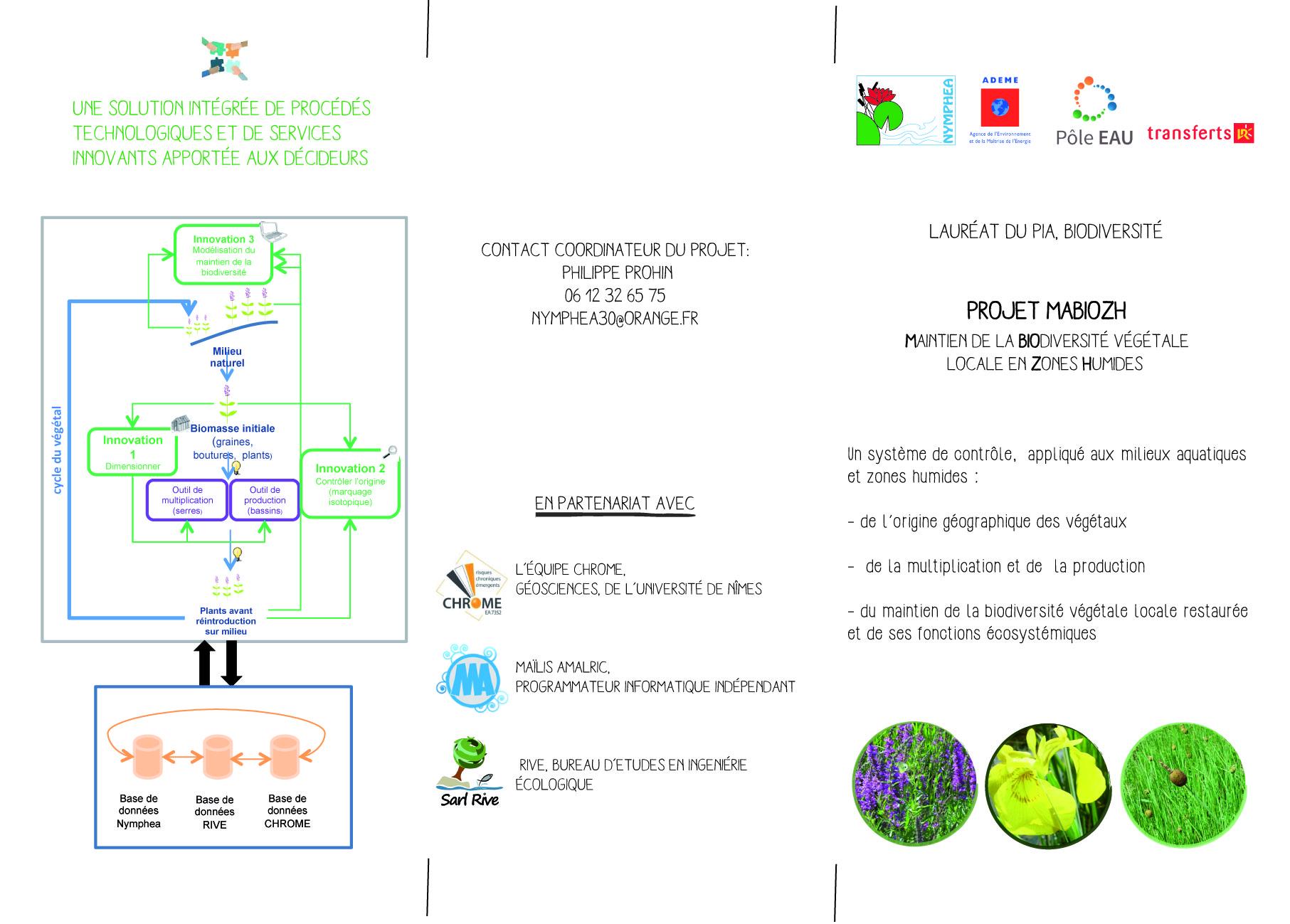 Plaquette de présentation du projet MABIOZH